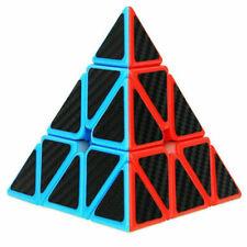Carbon cellulosic Pyramid Cube Pyraminx Triangle Magic Puzzle Twist Stickerless
