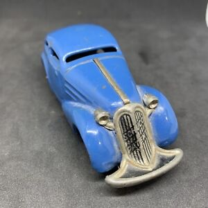 VINTAGE 1940s Schuco modello 1001 MOLLA TIN TOY CAR MADE IN US ZONE GERMANY