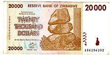 Zimbabwe Billet 20000 DOLLARS 2008 P73  HARARE BON ETAT