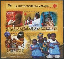 CENTRAL AFRICA  2015 BATTLE AGAINST MALARIA RED CROSS SHEET MINT NH