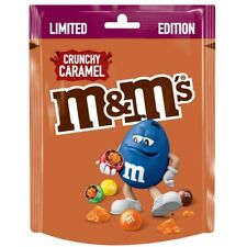 M&M's Crunchy Caramel -  Limited Edition  M&M's - 109 g Pouch -  American Candy