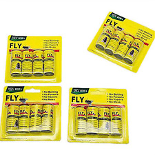 4Rolls Insect Bug Fly Sticky  Paper Catcher Trap Ribbon Tape Strip Flies