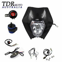 REC REG Light Kit Head/Tail Light Wiring Harness Horn for Dirt Bike Registration