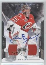 2011-12 Upper Deck Artifacts Jersey/Jersey /10 Cam Ward #58 Auto
