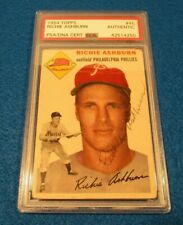 Richie Ashburn Signed 1954 Topps Trading Card-Phillies-PSA Authenticated
