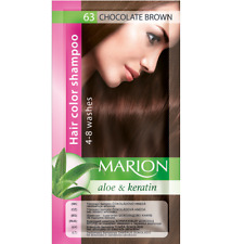 Marion Hair color shampoo sachet (lasting 4-8 washes) Aloe & Keratin 63