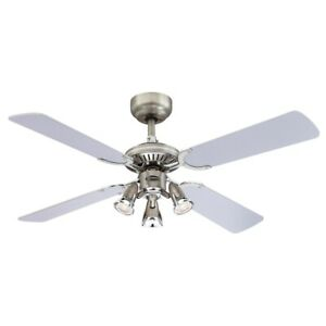 Deckenventilator- 105 cm / 4 Flügel / 3 Strahler-Leuchten