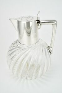 Continental Silver Crystal Claret Jug - Sporting - Kaiserlicher Yacht Club 1893