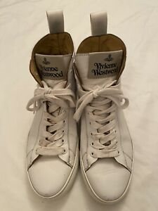 Vivienne Westwood Ladies Size 5 White Leather High Tops