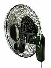 "Hydroponics 16"" Inch 400mm Three 3 Speed Wall Mounted Fan Grow Room Office Black"
