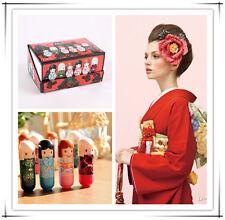 24x Lipstick Kimono Doll Pattern Colourful Girl Makeup Lip Gloss Balm Lipstick