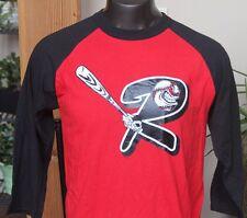 Champion - Raglan Baseball T-Shirt Red/Black Grapic & Number Men's sz Lrg. #1164