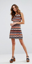 M Missoni Cotton/Wool Mix Knit Ziz Zag A Line Dress sz US 8-10 / IT 44  $599