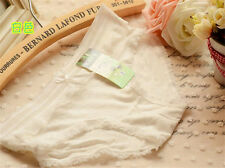 4 pcs White bamboo charcoal Girl Women Briefs Panties Underpants Underwear