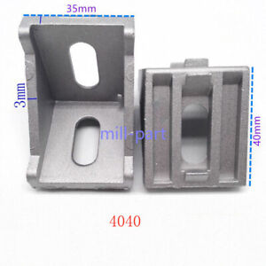 Aluminum Alloy T-slot Framing Brackets 40mm for 4040 Extrusion 10pc