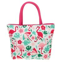 Equilibrium Tropical Flamingo Print Mini Canvas Tote Bag Handbag Shopping Bag
