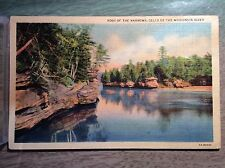 Foot of the Narrows Dells Wisconsin River Chapel Gorge Vintage Postcards Color