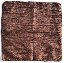 "Euro Shams Set Of 2 NWOT Dark Brown Crinkle Poly Classic  16"" X 16"""