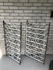 Two (2) Victorian Wrought Iron Balustrade Sections 19th Century Railing Fence