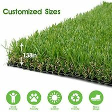Realistic Thick Artificial Grass Turf -Indoor Outdoor Garden Lawn Landscape