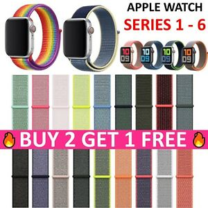 Replacement Sport Loop Nylon Woven Band for Apple Watch Series 4 3 2 1 40mm/44mm