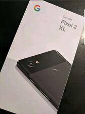 "NEW Google Pixel 2 XL 128GB Factory Unlocked Just Black 6"" 2017 Model NEW SEALED"