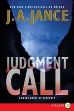 Judgment Call  Large Print : A Brady Novel of Suspense (Joan