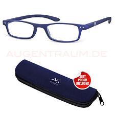 ligera Hombre Gafas de plástico lectura 1,5 en azul Unisex Ayuda Para Leer Nuevo