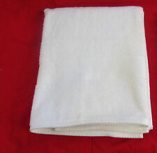 """The Big One White Beach Bath Towel Border Cotton Reversible Approx 53"""" x 30"""" New"""
