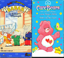 Babar's Triumph & Care Bears - Lotsa Heart's Wish and Order on the Court; 2 VHS