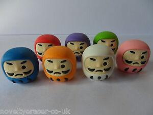 Novelty Japanese IWAKO Eraser Rubbers - IWAKO Daruma Erasers