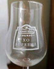 MARTELL COGNAC XO SUPREME France Snifter/Taster Glass Set. (4) 6oz Glasses K10