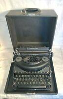 Vintage 1940 1941 REMINGTON RAND DeLuxe NOISELESS manual TYPEWRITER #N1118039