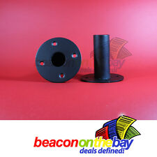 HEAVY DUTY SPEAKER STAND TOP HAT METAL 35mm (Pair) Heavy Gauge Steel