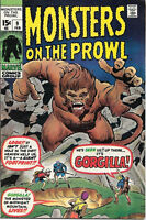 Monsters On The Prowl Comic Book #9, Marvel Comics 1971 VERY GOOD+