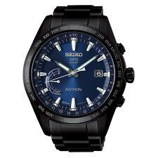 New Seiko Astron Solar GPS Black PVD Titanium Men's Watch SSE111