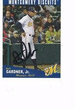 2013 Montgomery Biscuits Billy Gardner Jr Tampa Bay Rays Authentic Autograph COA