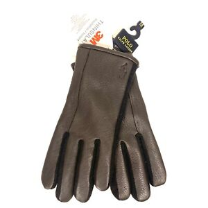 POLO RALPH LAUREN Mens Leather Touch Screen Compatible Gloves Brown (MSRP $68)