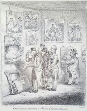 1940s James Gillray 1807 Caricature George Morland Art etching PRINT Rare vtg