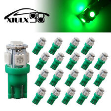 20X Green T10 188 192 5050 5SMD LED Dome Map Dashboard Interior Light Bulbs