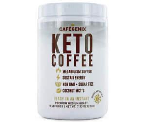 1 Cafegenix 7.9 Oz Keto Coffee Non GMO 15 Serving Instant Premium Coffee