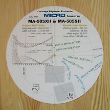 Micro Seiki MA-505XII & MA-505SII Custom Designed Tonearm Alignment Protractor