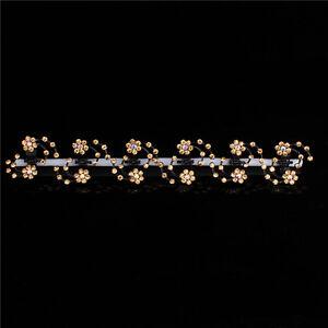 6PCS Women's Flower Hair Clips Barrette Pins Crystal Hairpin Wedding Accessories