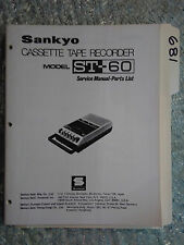 Sankyo st-60 service manual original repair book cassette tape deck recorder