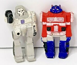 "Hasbro 1985 Transformers Optimus Prime & Megatron 2.5"" Rubber ERASERS"