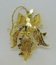 Danbury Mint Gold Plated 2006 Christmas Ornament Christmas Holly