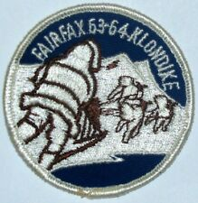 National Capital Area Cncl (MD) Fairfax Dist 1963-64 Klondike Pocket Patch  BSA
