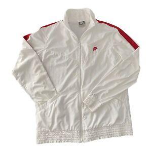 Y2K Nike White Windbreaker Lightweight Jacket Athletic Workout Womens Size XL