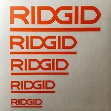 RIDGID Sticker Decal for Toolbox, Helmets, Coffee Mugs, Etc.