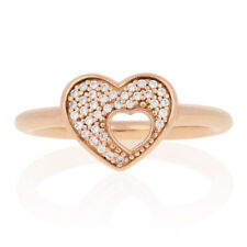 NEW Authentic Pandora Rose Shimmer Puzzle Heart Frame Ring Ster 52 (6) 186550CZ